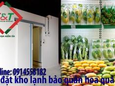 lắp đặt kho lạnh bảo quản hoa quả trái cây